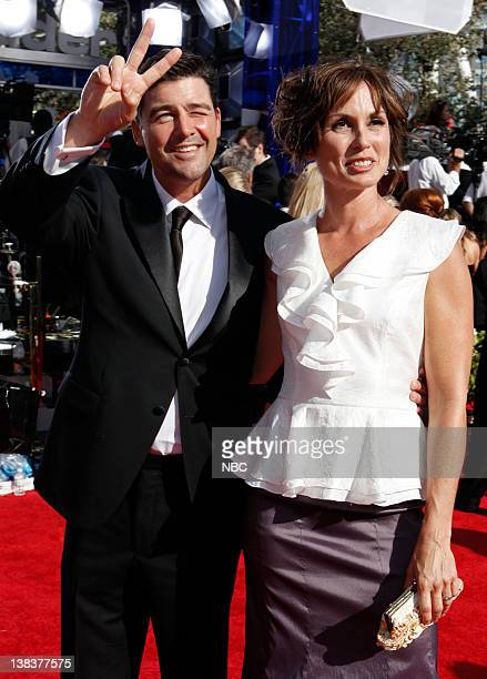 62nd PRIMETIME EMMY AWARDS -- Pictured: Kyle Chandler and Kathryn Chandler arrive at The 62nd Primetime Emmy Awards held at the Nokia Theatre L.A....