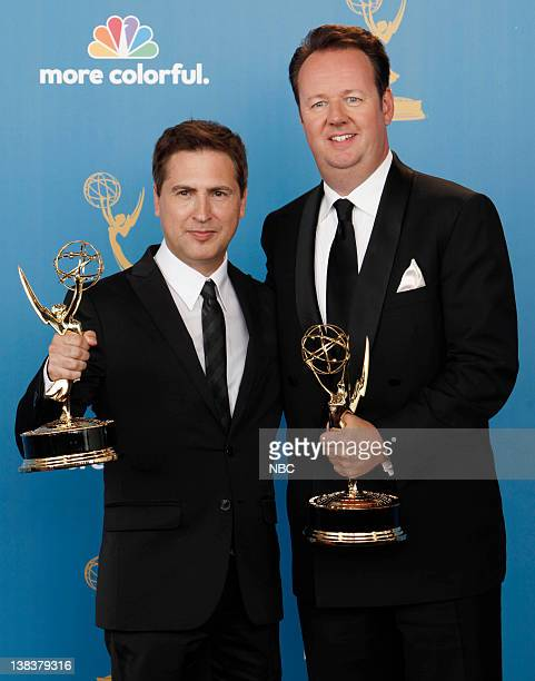 THE 62nd PRIMETIME EMMY AWARDS Pictured Paul Greenberg Dave Boone winner of Outstanding Writing in Variety for '63rd Annual Tony Awards' in the press...