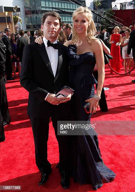THE 62nd PRIMETIME EMMY AWARDS Pictured Scott Phillips and Julie Bowen arrive at The 62nd Primetime Emmy Awards held at the Nokia Theatre LA Live on...