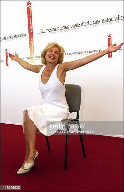 62nd Venice Film Festival Photocall of the film Espelho Magico by portuguese director Manoel De Oliveira In Venice Italy On September 01 2005Actress...