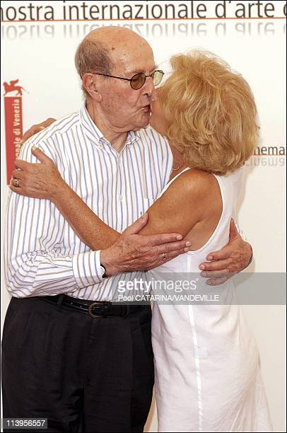 62nd Venice Film Festival Photocall of the film Espelho Magico by portuguese director Manoel De Oliveira In Venice Italy On September 01 2005Director...