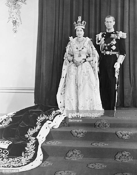 6/3/53London England Following her coronation in ancient and solemn religious ceremony in Westminster Abbey proud but gracious Queen Elizabeth II...