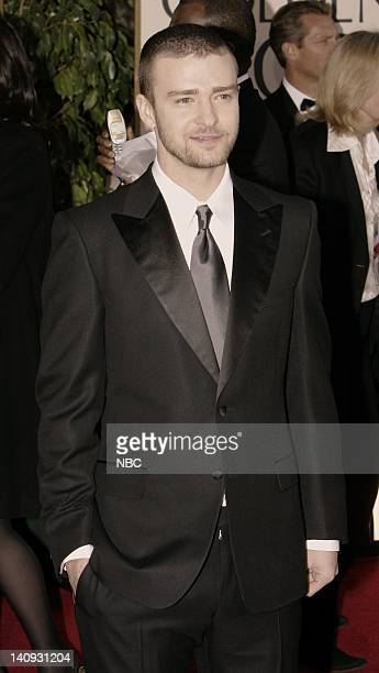 64th ANNUAL GOLDEN GLOBE AWARDS Pictured Justin Timberlake arrives at the 64th Annual Golden Globe Awards held at the Beverly Hilton Hotel on January...