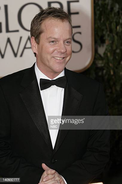 64th ANNUAL GOLDEN GLOBE AWARDS Pictured Keifer Sutherland arrives at the 64th Annual Golden Globe Awards held at the Beverly Hilton Hotel on January...