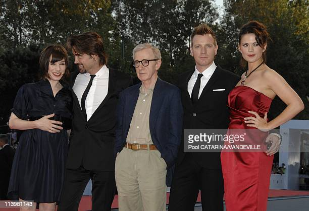 64th Venice Film festival: Premiere of the film 'Cassandra's dream' In Venice, Italy On September 02, 2007-Sally Hawkins, Colin Farrell, Woody Allen,...