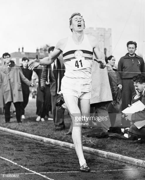 5/8/1954Oxford England Mouth wide open gasping in air with every tendon tight as a fiddle string 24yearold English medical student Roger Bannister is...