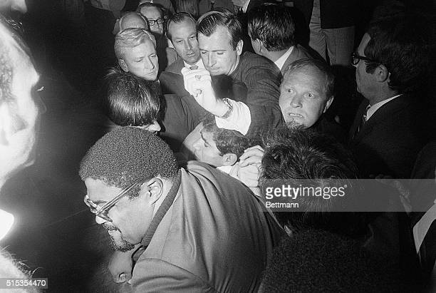 6/5/1968Los Angeles CA A man identified as Jordanian Sirhan Sirhan is pummeled by a crowd just after he allegedly wounded Senator Robert F Kennedy in...