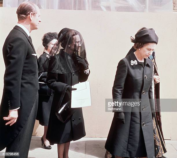 Windsor, England- The Duchess of Windsor, the American-born twice-divorced woman for whom a King of England gave up his throne, walks from his...