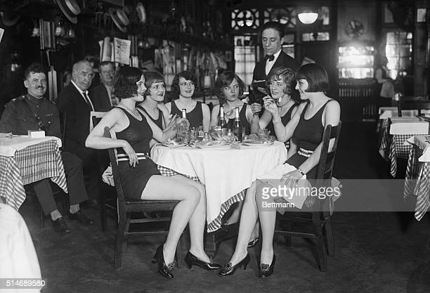 Thanks to a precedent set by six Ziegfield Girls today who insisted on having their luncheon in their bathing suits it is now possible for other...