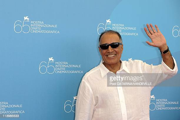 65th Venice Film Festival Photocall of 'Shirin' with director Abbas Kiarostami In Venice Italy On August 28 2008