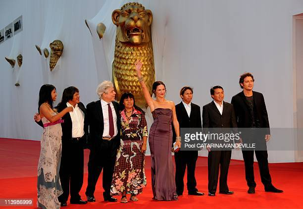 65th Venice Film Festival Premiere of the italian film 'Birdwatchers La terra degli uomini rossi' In Venice Italy On September 01 2008 actors Eliane...