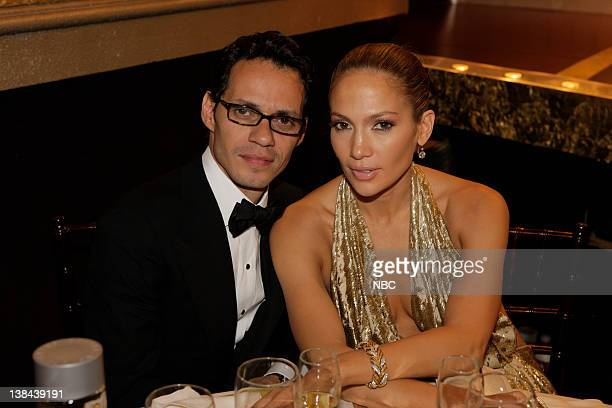 66th ANNUAL GOLDEN GLOBE AWARDS Pictured Mark Antony and Jennifer Lopez during a candid moment at the 66th Annual Golden Globe Awards held at the...
