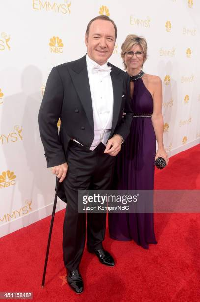 66th ANNUAL PRIMETIME EMMY AWARDS Pictured Actor Kevin Spacey and Ashleigh Banfield arrive to the 66th Annual Primetime Emmy Awards held at the Nokia...