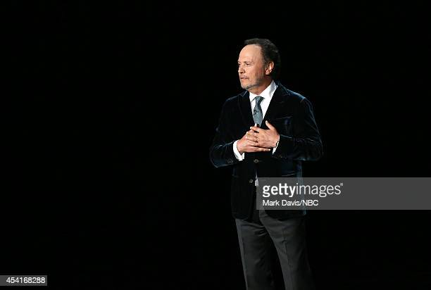66th ANNUAL PRIMETIME EMMY AWARDS Pictured Actor/comedian Billy Crystal speaks on stage during the 66th Annual Primetime Emmy Awards held at the...