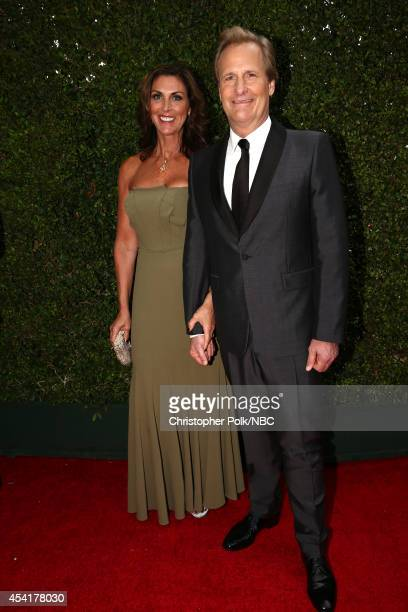 66th ANNUAL PRIMETIME EMMY AWARDS Pictured Actors Kathleen Treado and actor Jeff Daniels arrive to the 66th Annual Primetime Emmy Awards held at the...