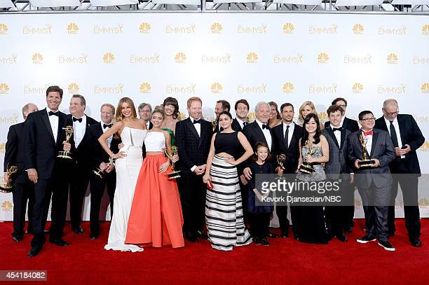 66th ANNUAL PRIMETIME EMMY AWARDS Pictured Actors Sarah Hyland Sofía Vergara Aubrey AndersonEmmons Julie Bowen Ariel Winter Jesse Tyler Ferguson...