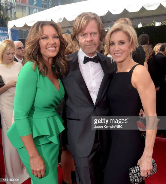 66th ANNUAL PRIMETIME EMMY AWARDS Pictured Actors Vanessa L Williams Felicity Huffman and William H Macy arrive to the 66th Annual Primetime Emmy...
