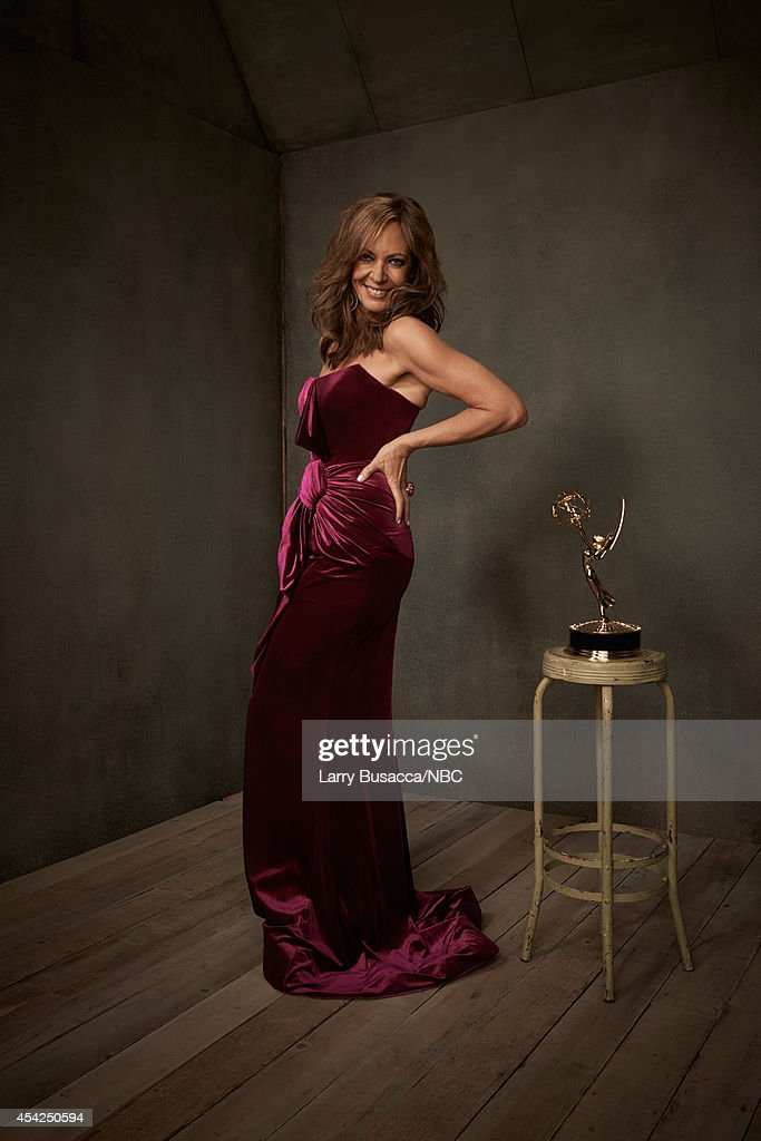66th ANNUAL PRIMETIME EMMY AWARDS -- Pictured: Actress Allison Janney from 'Mom' poses in the NBC/People photo booth during the 66th Annual Primetime Emmy Awards held at the Nokia Theater on August 25, 2014.