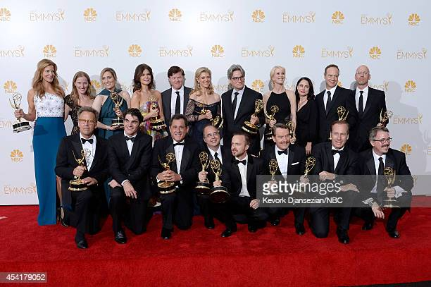 66th ANNUAL PRIMETIME EMMY AWARDS Pictured Actress Anna Gunn coexecutive producer Melissa Bernstein producer Diane Mercer actress Betsey Brandt actor...