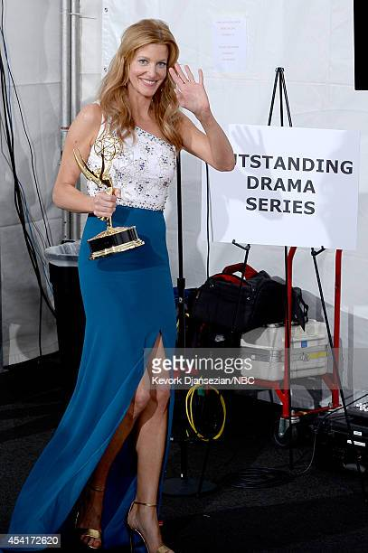 66th ANNUAL PRIMETIME EMMY AWARDS -- Pictured: Actress Anna Gunn, winner of Outstanding Supporting Actress In A Drama Series and Outstanding Series...