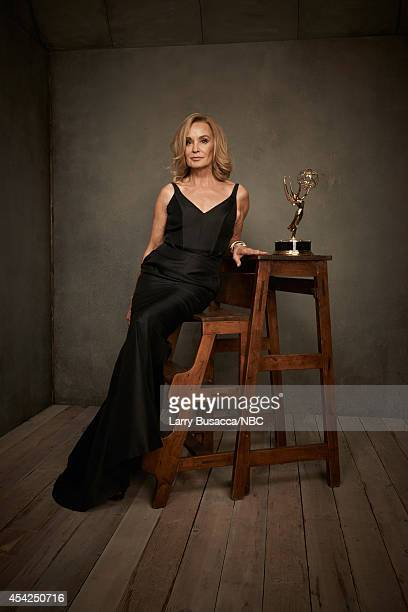 66th ANNUAL PRIMETIME EMMY AWARDS Pictured Actress Jessica Lange of American Horror Story Coven poses in the NBC/People photo booth during the 66th...