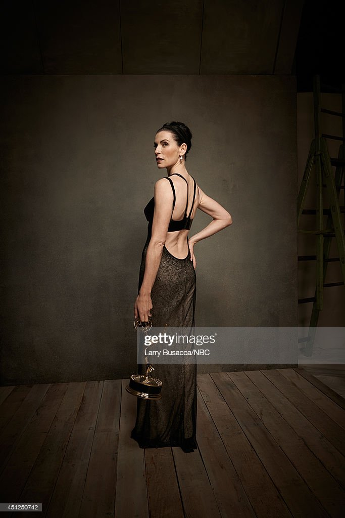 66th ANNUAL PRIMETIME EMMY AWARDS -- Pictured: Actress Julianna Margulies from 'The Good Wife' poses in the NBC/People photo booth during the 66th Annual Primetime Emmy Awards held at the Nokia Theater on August 25, 2014.