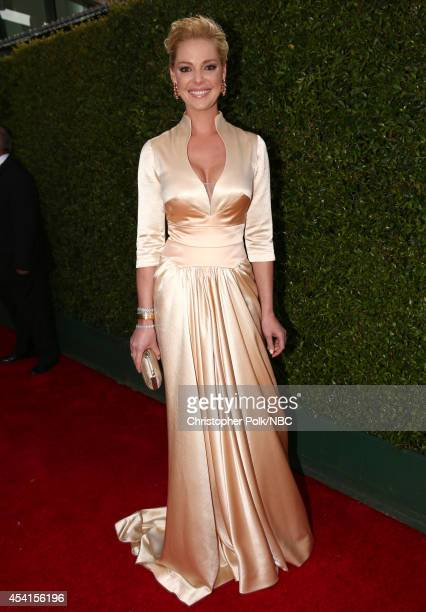 66th ANNUAL PRIMETIME EMMY AWARDS Pictured Actress Katherine Heigl arrives to the 66th Annual Primetime Emmy Awards held at the Nokia Theater on...
