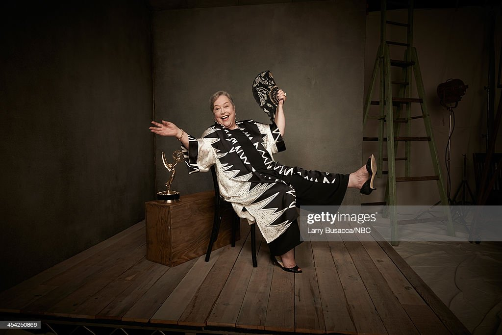 66th ANNUAL PRIMETIME EMMY AWARDS -- Pictured: Actress Kathy Bates from 'American Horror Story: Coven' poses in the NBC/People photo booth during the 66th Annual Primetime Emmy Awards held at the Nokia Theater on August 25, 2014.