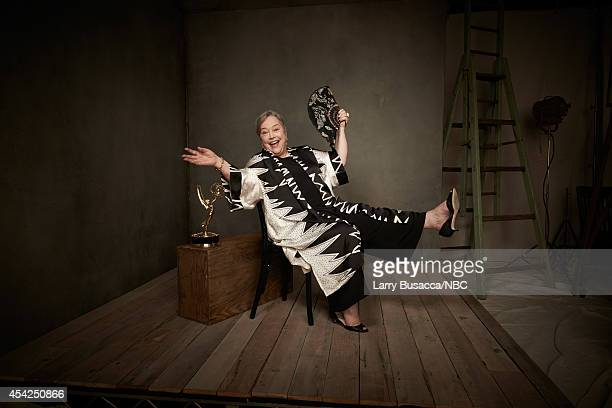 66th ANNUAL PRIMETIME EMMY AWARDS Pictured Actress Kathy Bates from American Horror Story Coven poses in the NBC/People photo booth during the 66th...