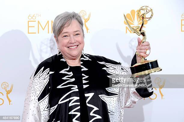 66th ANNUAL PRIMETIME EMMY AWARDS Pictured Actress Kathy Bates winner of Outstanding Supporting Actress In A Miniseries Or A Movie for American...