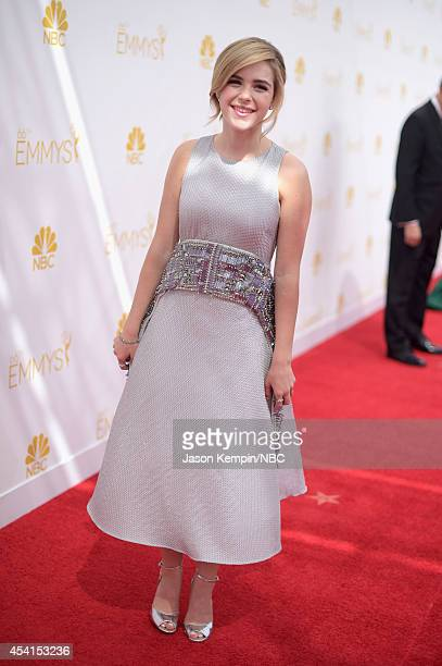 66th ANNUAL PRIMETIME EMMY AWARDS Pictured Actress Kiernan Shipka arrives to the 66th Annual Primetime Emmy Awards held at the Nokia Theater on...