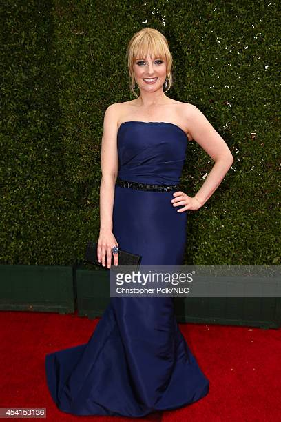 66th ANNUAL PRIMETIME EMMY AWARDS Pictured Actress Melissa Rauch arrives to the 66th Annual Primetime Emmy Awards held at the Nokia Theater on August...