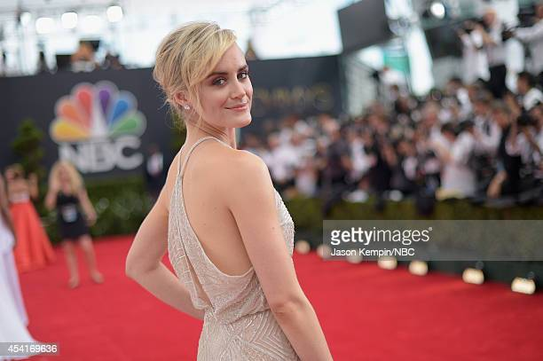 66th ANNUAL PRIMETIME EMMY AWARDS Pictured Actress Taylor Schilling arrives to the 66th Annual Primetime Emmy Awards held at the Nokia Theater on...