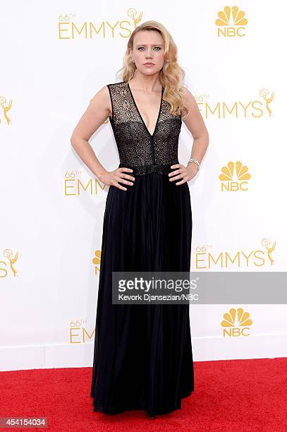 66th ANNUAL PRIMETIME EMMY AWARDS Pictured Comedian Kate McKinnon arrives to the 66th Annual Primetime Emmy Awards held at the Nokia Theater on...