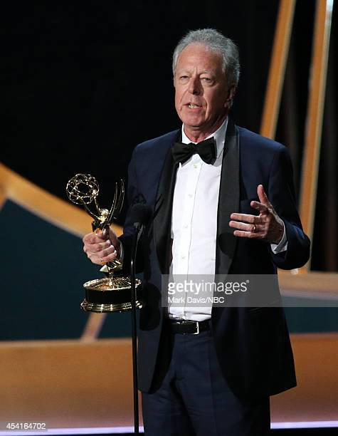 66th ANNUAL PRIMETIME EMMY AWARDS Pictured Director Colin Bucksey accepts the Outstanding Directing for a Miniseries Movie or a Dramatic Special...