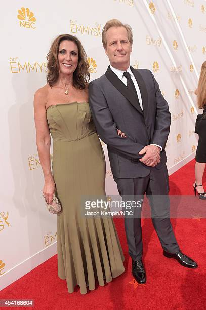 66th ANNUAL PRIMETIME EMMY AWARDS Pictured Kathleen Treado and actor Jeff Daniels arrive to the 66th Annual Primetime Emmy Awards held at the Nokia...