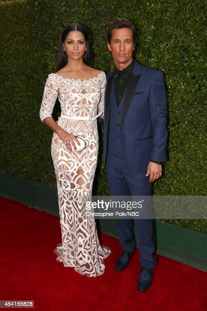 66th ANNUAL PRIMETIME EMMY AWARDS Pictured Model/designer Camila Alves and actor Matthew McConaughey arrive to the 66th Annual Primetime Emmy Awards...