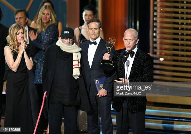 66th ANNUAL PRIMETIME EMMY AWARDS Pictured Producer Dede Gardner actor Mark Ruffalo actress Julia Roberts writer Larry Kramer and director/producer...