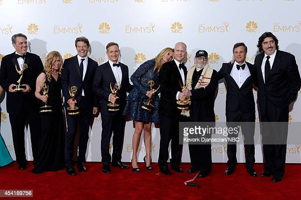 66th ANNUAL PRIMETIME EMMY AWARDS Pictured Producers Ned Martel Dede Gardner executive producers Jason Blum Dante Di Loreto actress Julia Roberts...