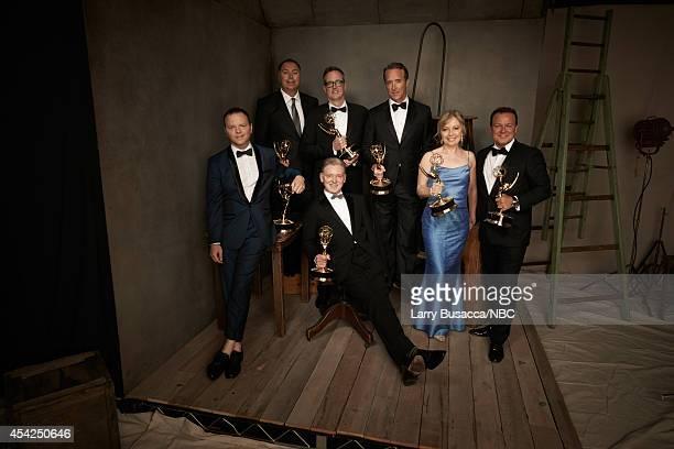 66th ANNUAL PRIMETIME EMMY AWARDS -- Pictured: Show Creator/Executive Producer Noah Hawle, Producers Michael Frislev, John Cameron, Executive...