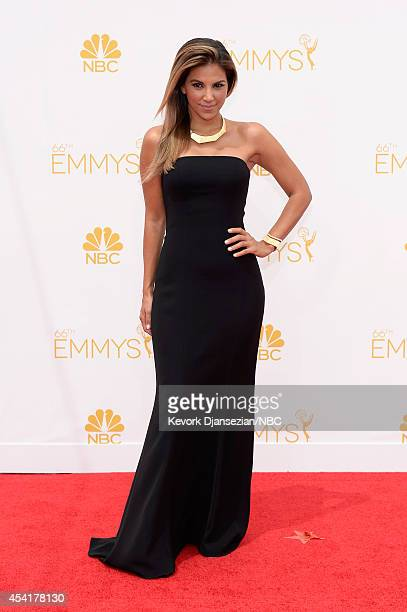 66th ANNUAL PRIMETIME EMMY AWARDS Pictured TV host Liz Hernandez arrives to the 66th Annual Primetime Emmy Awards held at the Nokia Theater on August...