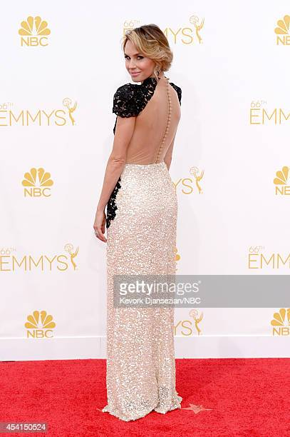 66th ANNUAL PRIMETIME EMMY AWARDS Pictured TV personality Keltie Knight arrives to the 66th Annual Primetime Emmy Awards held at the Nokia Theater on...