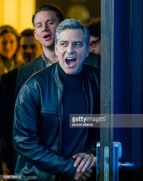 66th International Film Festival in Berlin Germany 11 February 2016 Photo call _Hail Ceasar_ George Clooney Channing Tatum The film is shown out of...