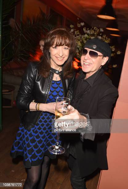 66th International Film Festival in Berlin Germany 13 February 2016 BILDBerlinaleParty PlacetoB at the Borchardt Klaus Meine and his wife Gabi The...
