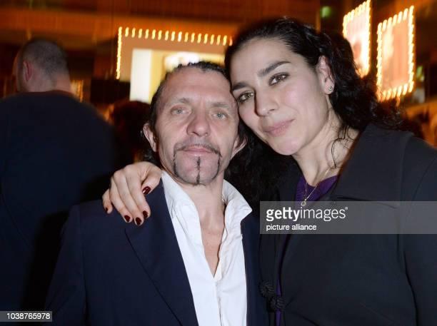 66th International Film Festival in Berlin Germany 14 February 2016 North RhineWestphalia reception party David Bennent and Kavita Chohan The...