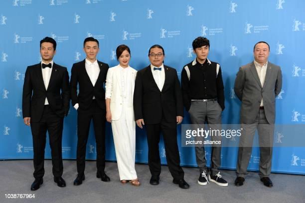 66th International Film Festival in Berlin Germany 15 February 2016 Photo call 'Chang Jiang Tu' Actors Tan Kai Wu Lipeng Xin Zhi Lei director Yang...