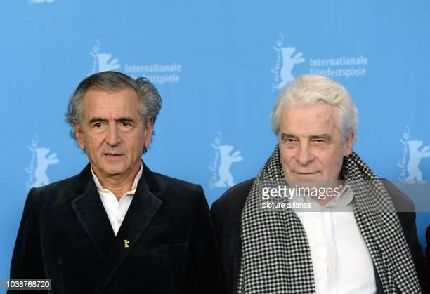 66th International Film Festival in Berlin Germany 15 February 2016 Photo call 'Smrt u Sarajevu/Mort à Sarajevo' author BernardHenri Levy and actor...