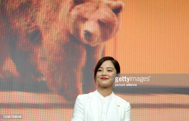 66th International Film Festival in Berlin Germany 15 February 2016 Press conference 'Chang Jiang Tu' Actress Xin Zhi Lei The film runs in...