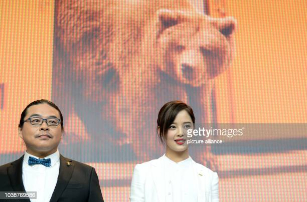 66th International Film Festival in Berlin Germany 15 February 2016 Press conference 'Chang Jiang Tu' Director Yang Chao with actress Xin Zhi Lei The...