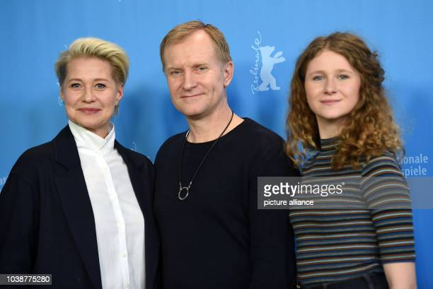 66th International Film Festival in Berlin, Germany, 17 February 2016. Photocall 'Kollektivet' : Actors Trine Dyrholm , Ulrich Thomsen and Martha...